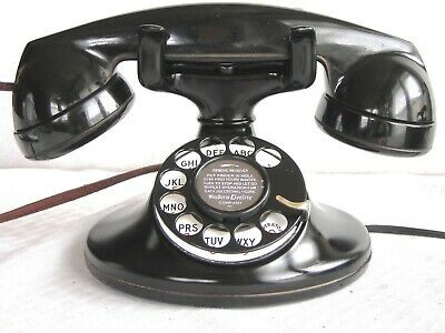 Western Electric 202  Desk Restored Antique Telephone With Subset Circa 1939