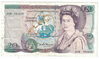 Great Britain - ND(1984-88) 20 Pounds Banknote (P-380d)