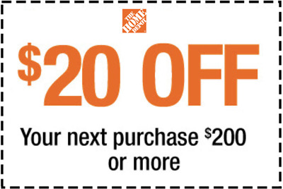 Home Depot Coupon $20 off $200 purchase ONLINE USE ONLY Expires 6/20/20 - fast