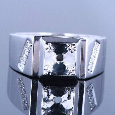 New Style! Full Cut Party Jewelry Handsome Man Band Wedding Ring 10K White Gold