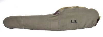 WORLD WAR 2 M1 CARBINE FLEECE LINED CANVAS CASE Dark OD Marked JT&L 1944