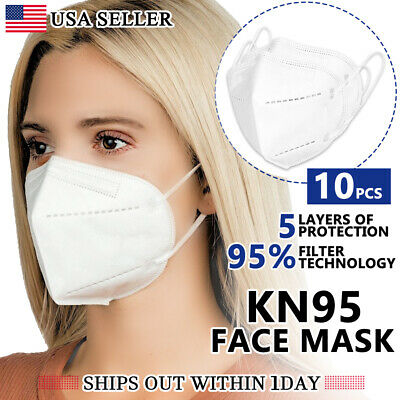 [10 PCS] KN95 Protective 5 Layer Face Mask Disposable Respirator [BFE 95% PM2.5]