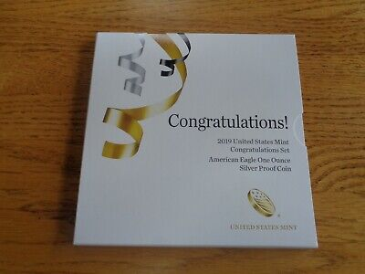 2019-W US Mint Congratulations Set with 1 oz Silver Proof American Eagle
