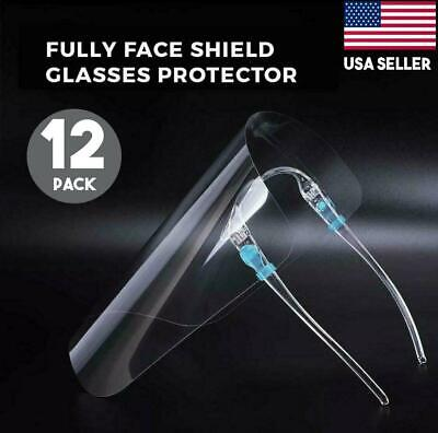 Face Mask Shield Protection Cover Guard Non-Medical Reusable Glasses Pack Of 12