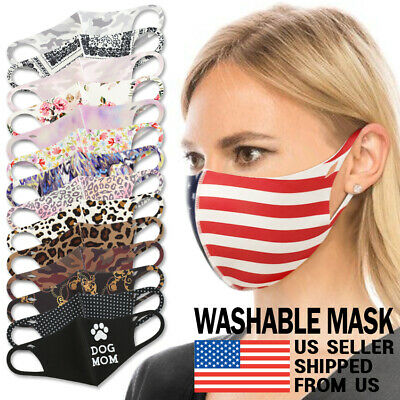 Washable Face Mask - Unisex Adult Breathable Reusable Spandex 3D Stretch Fabric
