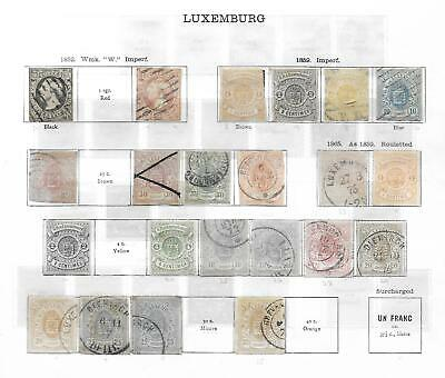 LUXEMBOURG Old-Time Original collection early issues to 1936 - 15636