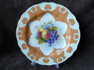 Royal Worcester Gilded Hand Painted Fruit Plate by Albert Shuck c.1919