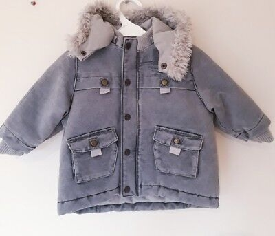 Baby Boys Catimini Anorak Age 6 Months In Vgc! Grey, Parka, Distressed Finish
