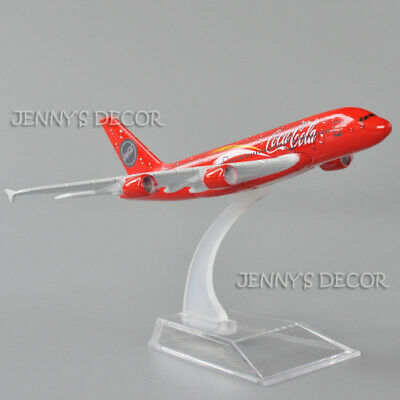 Coca Cola Airbus A380 Model Plane Scale Apx 14cm Long Diecast Metal