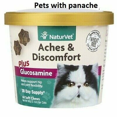 NaturVet Aches & Discomfort Hip Joint for Cats with Glucosamine 60 Soft Chews