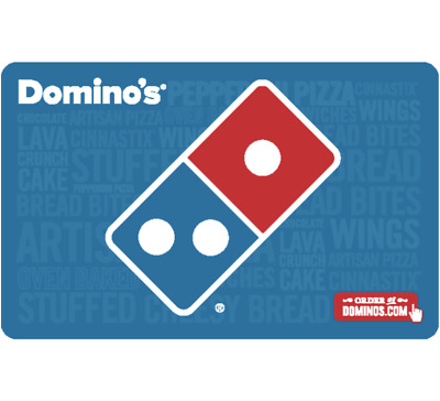Domino's® Pizza Gift Card - $25, $50 or $100  Email delivery