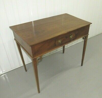 Antique Oak Georgian/Victorian Side Table with Drawer writing desk