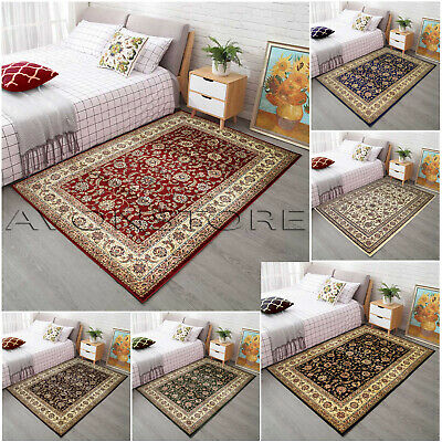 Traditional Thick Floral Rugs Non-Slip Luxury Soft Area Rug Runner Mat Carpet