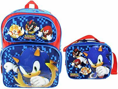 Sonic The Hedgehog Boys School Backpack Book Bag Lunch Box Set Knuckles Tails 17 54 Picclick Uk