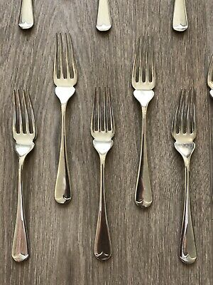 12 x Sterling Silver Fish Forks by Carrs Of Sheffield