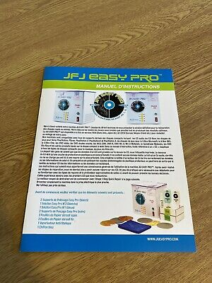 Jfj Easy Pro French Instruction  Manuel Leaflet