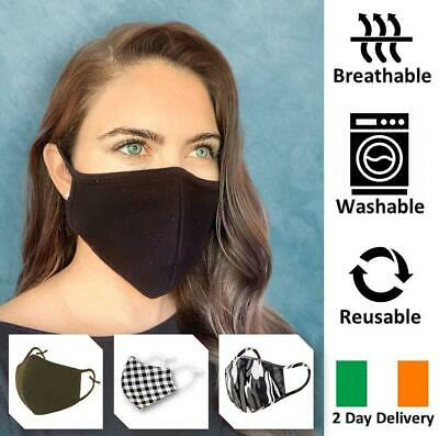 Dual Layer Breathable Reusable & Washable Stylish Face Mask Irish Stock