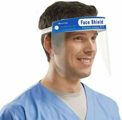 Safety Full Face Shield Clear Protector Work Industry Dental Anti-Fog Brand New