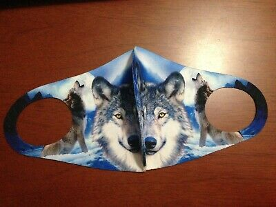 Unisex 3D Wolves Face Masks
