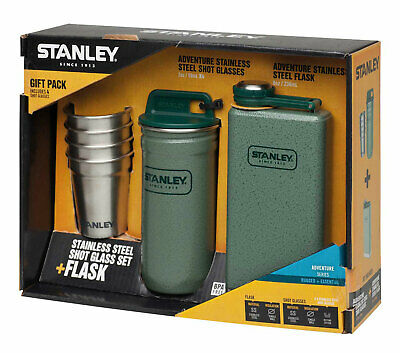 Stanley Geschenk-Set Flachmann Adventure Gift Set Pocket Steel
