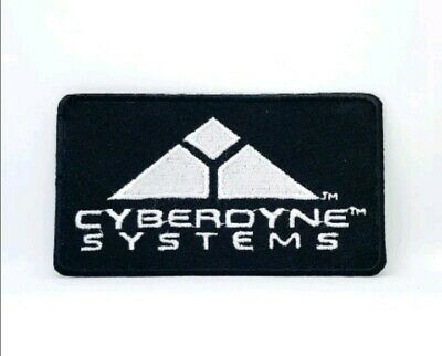 TERMINATOR MOVIE CYBERDYNE SYSTEMS LOGO Embroidered Iron Sew On Patch badge