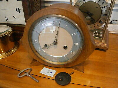 CLOCK Wood Case Mantle Good SMITHS ENFIELD chime movement sound parts spares 3B