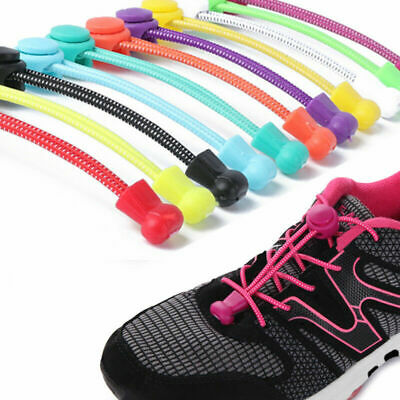 No Tie Shoelaces Shoe Laces System Easy Lock For Adult Kids Trainers Shoes