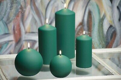 Pillar Ball Taper decorative candles in various sizes BURGUNDY CLASSIC CANDLES