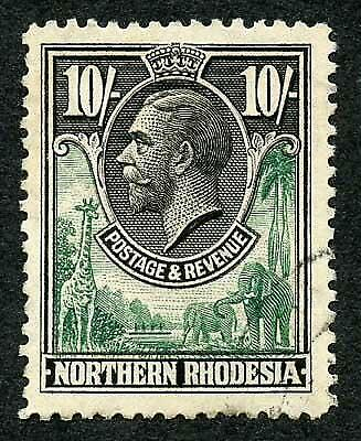 Northern Rhodesia SG16 10/- Fine used cat 100 pounds