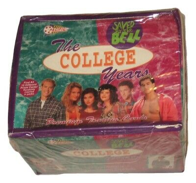Sealed Box 1994 Pacific Saved By The Bell The College Years Trading Cards