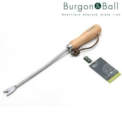 Burgon & Ball Stainless Steel Dandeliion Weeder with Wooden Handle|RHS Endorsed