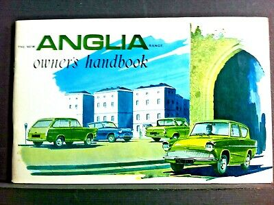 1959-1960 Ford Anglia Owners Manual Handbook Owner User Instruction Guide Book