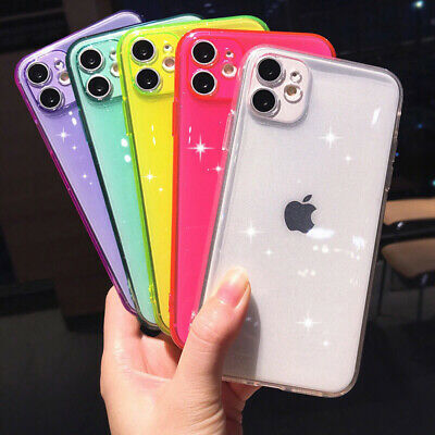 For iPhone 11 Pro Max XS XR X 8 6 7 Plus Shockproof Glitter Silicone Case Cover
