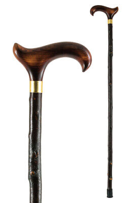 Country Derby Walking Stick with Blackthorn Shaft