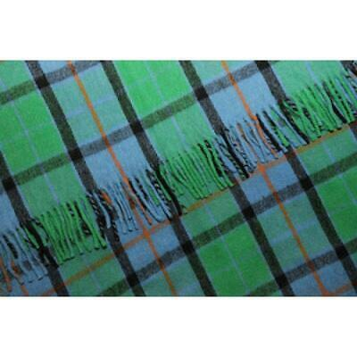 Scottish Flower of Scotland Tartan Wool Rug/Blanket By INGLES BUCHAN OF SCOTLAND