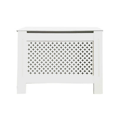 Radiator Cabinet Cover White Painted Traditional MDF Wood Modern Furniture Grill