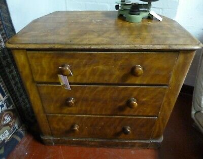 Unusual Victorian Solid Pine Chest Of Drawers