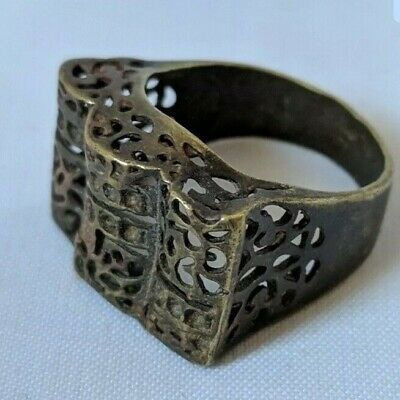 Ancient Ring Roman Bronze Antique Old Authentic Artifact Very Extremely Rare