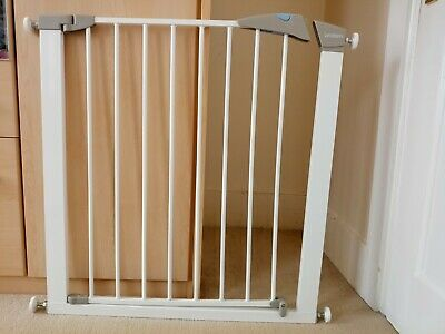 76-82cm│2 Way Opening│White│New Lindam Sure Shut Orto Pressure Fit Safety Gate