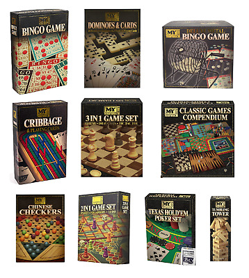 Classic Traditional Family Board Games Kids Children Indoor Xmas Gift Toys