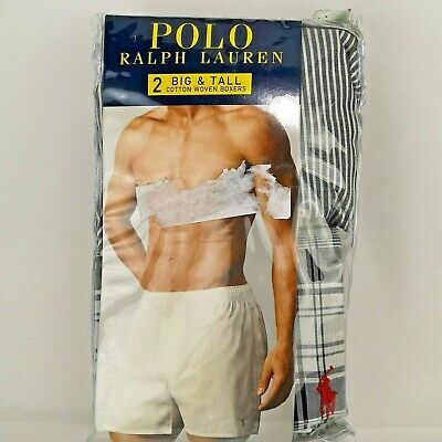 Polo Ralph Lauren Big and Tall Man Classic Fit Woven Boxers-2 Pack Size 52
