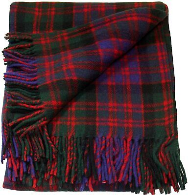 Scottish Macdonald Clan Tartan Rug/Blanket By Ingles Buchan Of Scotland