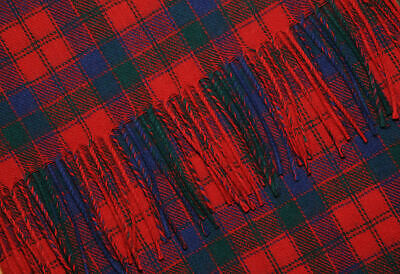 Scottish Robertson Red Tartan Rug/Blanket By Ingles Buchan Of Scotland