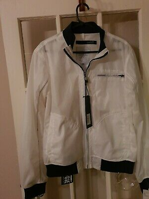 Mens GG By Condemned Nation Parklea Fur Lined White Jacket RRP £67.99 SA1