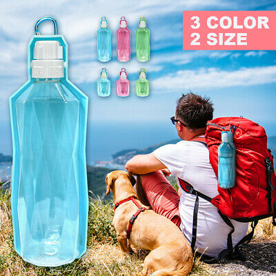 Portable Pet Dog Cat Outdoor Travel Water Bowl Bottle 250 ML Drinking Fountain