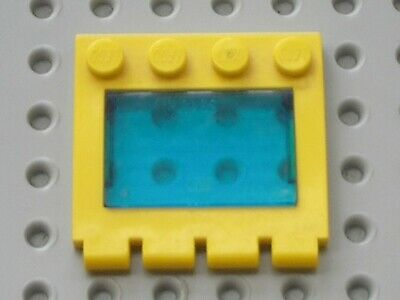 1x Hinge Vehicle Roof 4x4 2349 Trans Dark Blue Glass Yellow Frame Lego