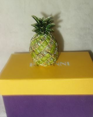Rucinni  Bejeweled Enamel Pineapple Glass Collectible Crystal