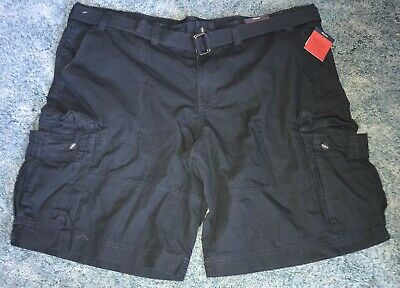 NWT Expandable Waist Cargo Shorts Men/'s Big and Tall Mossimo with Belt
