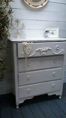 Vintage Painted Victorian Style Chest Of Drawers Shabby Chic CAN ARRANGE COURIER