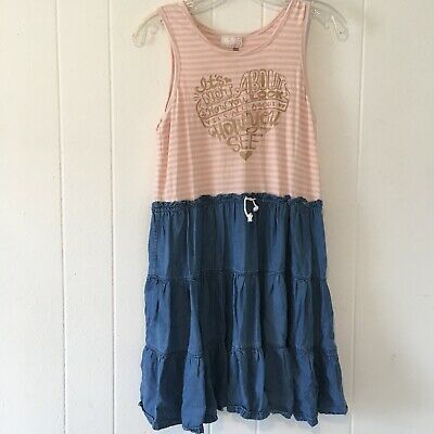 Matilda Jane Big Girls 14 Dress Tank Top Denim Its Not All About What You See